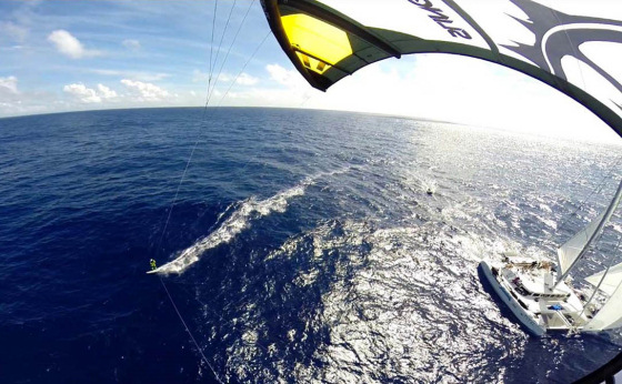 HTC Atlantic Kite Challenge: 27 days in the water