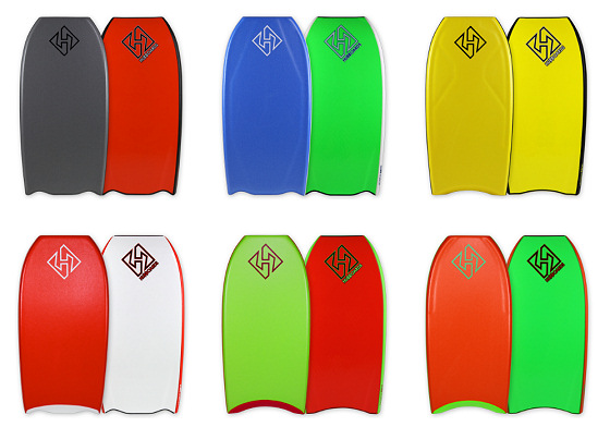 Hubboards: bodyboarding art by Jeff and Dave