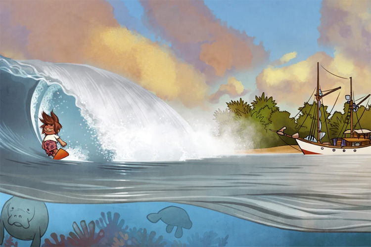 Hubi's Surf Atlas: a beautiful surf book that will entertain both children and adults alike