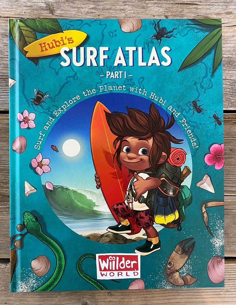 Hubi's Surf Atlas: Part One: along with the buckets of cool facts, the illustrations are as froth-inducing as clear and empty Kirra pits