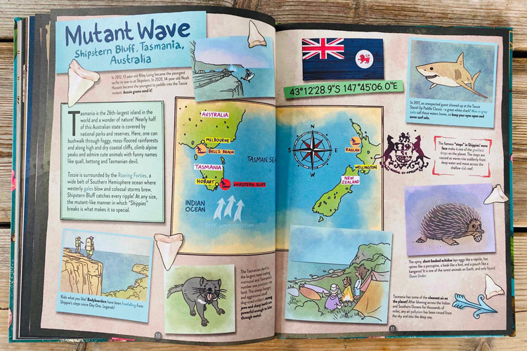 Hubi's Surf Atlas: Part One: the book includes an all-time surf glossary