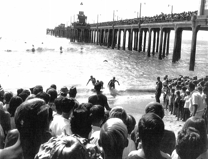 Huntington Beach Pier: exciting times at the 1963 West Coast Surfing Championship