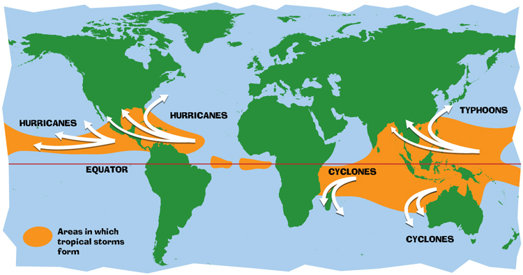 Hurricanes, cyclones, and typhoons: they are all tropical cyclones | Illustration: NASA