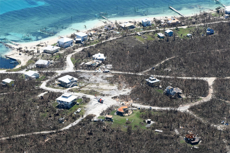 Bahamas: Hurricane Dorian struck the Abaco Islands as a Category 5 hurricane on September 1, 2019 | Photo: Hunter M/US Air Force