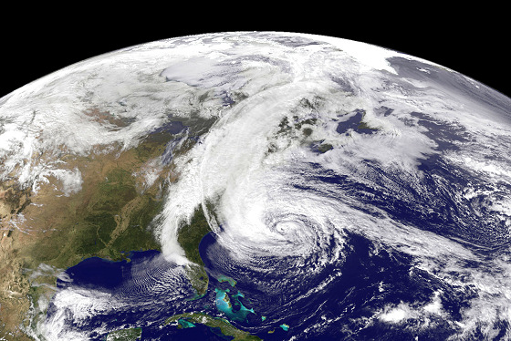 Hurricane Sandy: strong winds will hit the US mid-Atlantic coast