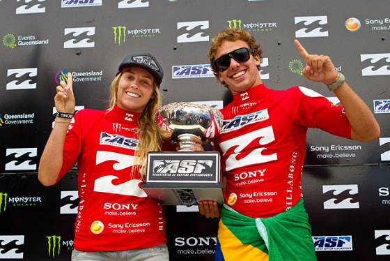 Leila Hurst and Caio Ibelli: the world junior champs