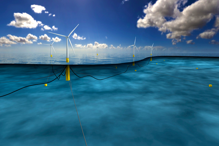 Hywind Scotland Pilot Park: the world's first floating offshore wind farm | Photo: Statoil