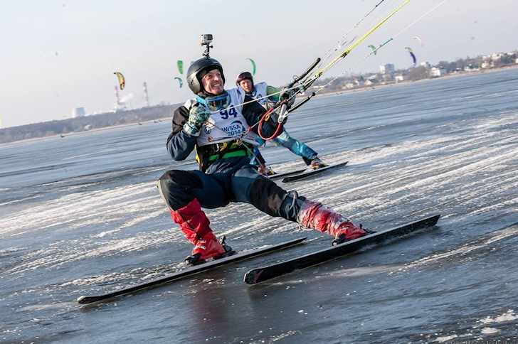 2014 World Ice and Snow Sailing Championship: there's always time to smile