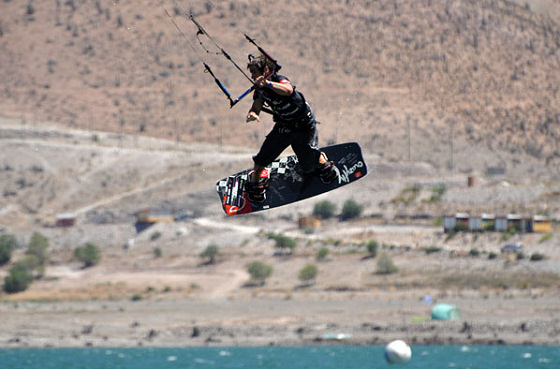 Ignacio Garcia: another shy kiteboarder