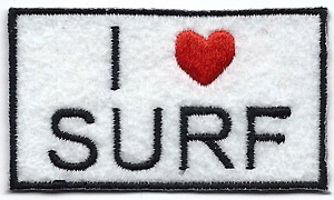 I Love To Surf Patch