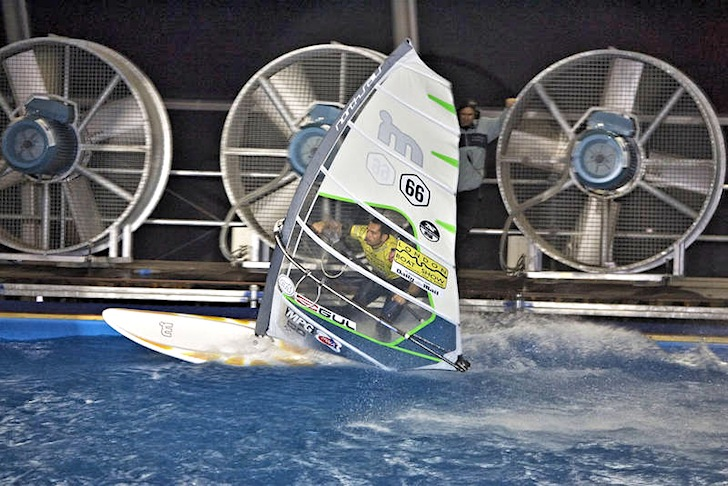 Indoor windsurfing: turning the wind on