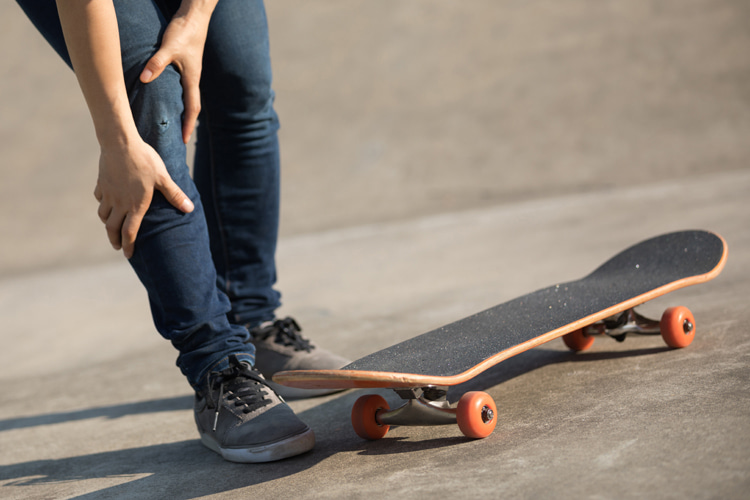 Skateboarding: falling off the board is part of the sport | Photo: Shutterstock