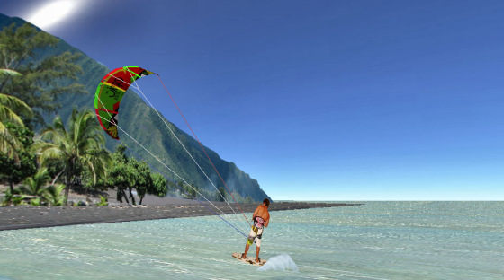 Kiteboard for iPhone: watch the palm trees