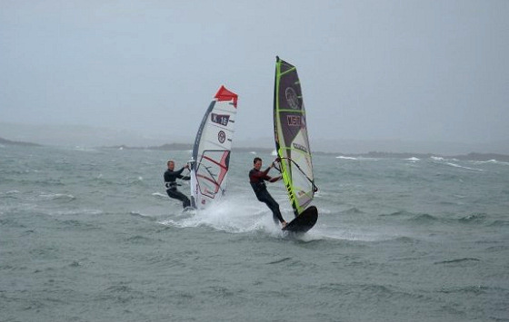 Irish Slalom Series: grey skies and windy surf