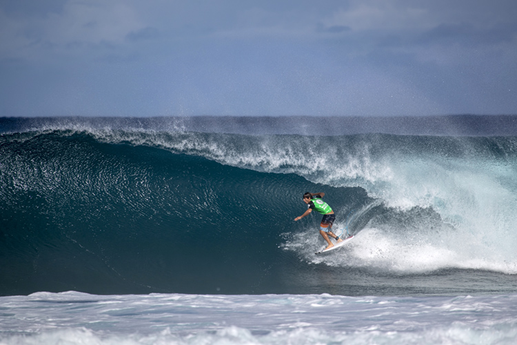 Jack Robinson: he rode a Perfect 10 barrel at Pipeline | Photo: Heff/WSL
