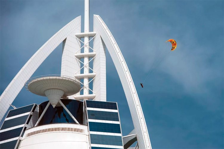 Nick Jacobsen: the Danish kiteboarder jumped off Burj al-Arab's helipad at