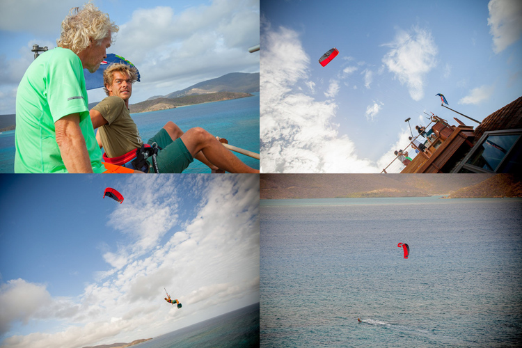 Nick Jacobsen: jumping off Richard Branson's party island | Photos: John Dill/Virgin