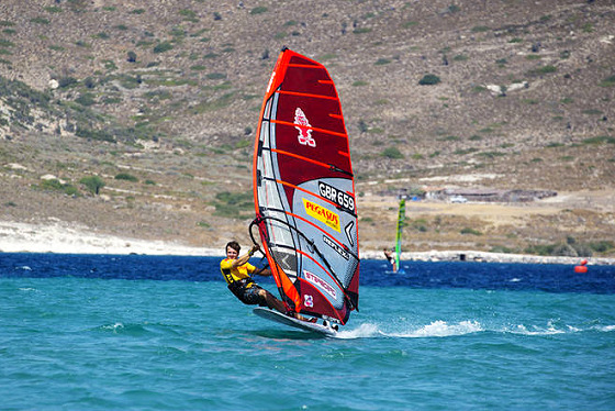 James Dinsmore: making a name in British Slalom windsurfing
