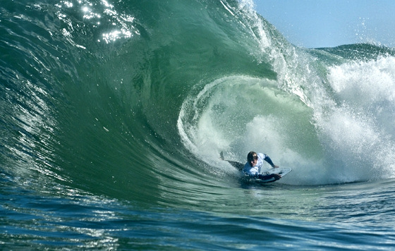 Jared Houston: getting barreled in South Africa