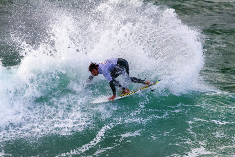 Jay Quinn: the 2018 British surfing champion | Photo: Surfing England