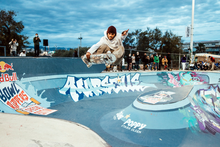 Jean Pantaleo: the French skateboarder won the 2020 Red Bull Bowl Rippers | Photo: Red Bull