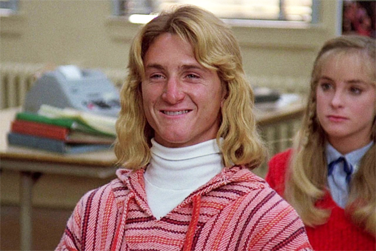 Jeff Spicoli: the stereotypical stoned surfer dude in 'Fast Times at Ridgemont High'