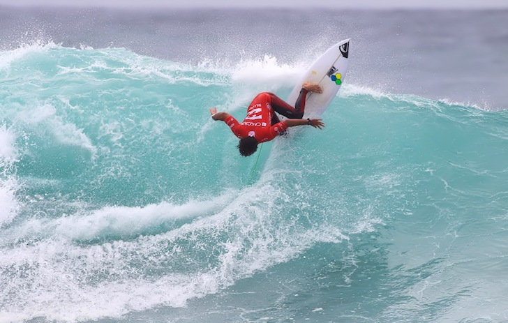 Jeremy Flores: pumped and angry | Photo: ASP/Masurel