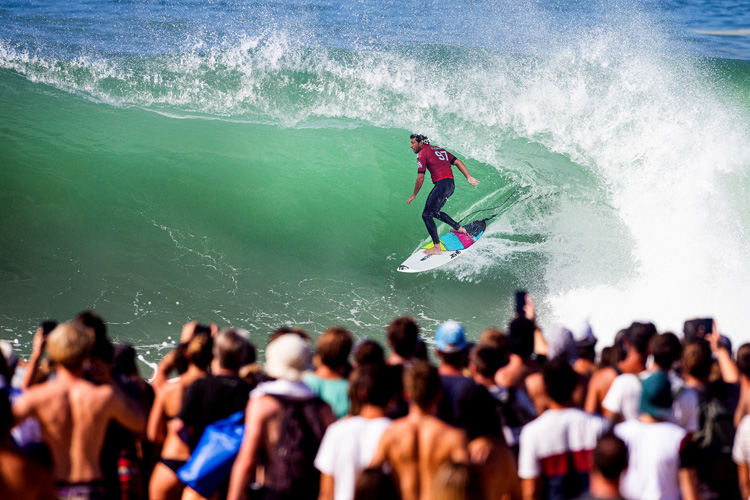 Jeremy Flores: the first French surfer to win the Quiksilver Pro France | Photo: Poullenot/WSL
