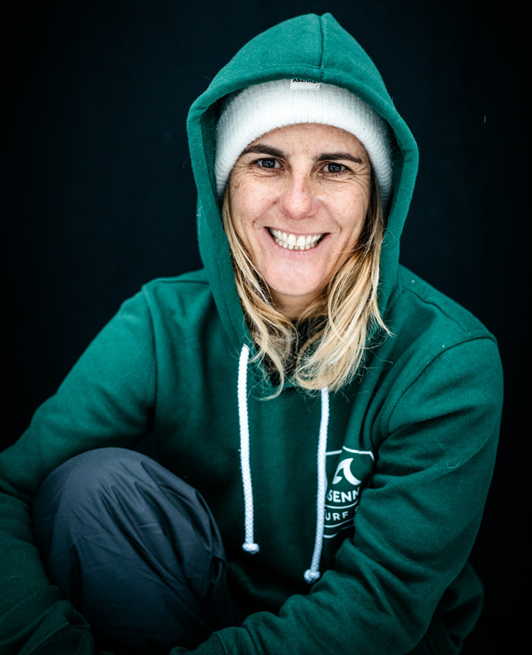 Joana Andrade: she is pushing her limits at Nazaré | Photo: Elina Manninen