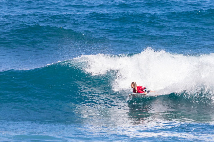 Joana Schenker: she secured her fourth consecutive European Tour of Bodyboard (ETB) title in Madeira | Photo: APB