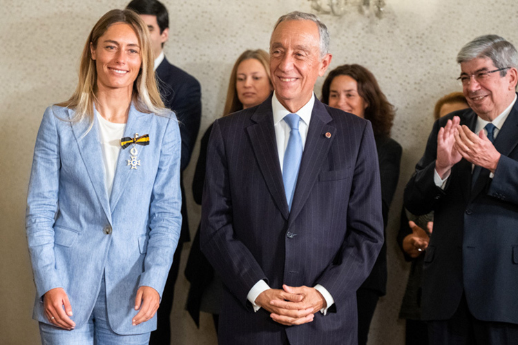 Joana Schenker: she is now an Officer of the Order of Merit of the Portuguese Republic | Photo: Presidencia.pt