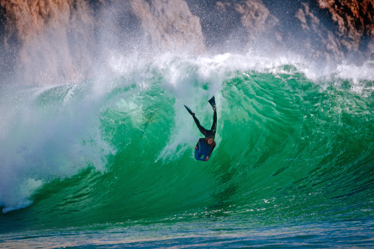 Joana Schenker: a Portuguese pro bodyboarder from Sagres | Photo: Ricardo Alves
