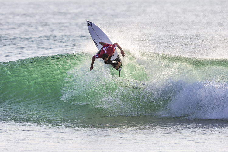 Joan Duru: the French surfer beat Julian Wilson in the quarterfinals | Photo: Masurel/WSL
