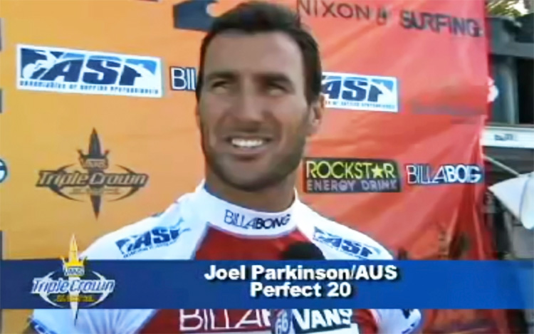 Joel Parkinson: winner of the 2008 Vans Triple Crown of Surfing with a Perfect 20 heat