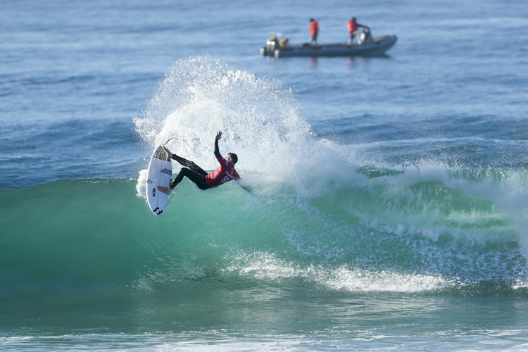 Joel Parkinson: laying down his cards at Jeffreys Bay | Photo: Cestari/WSL