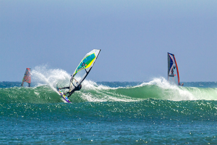 Joey Sanchez: a seasoned windsurfer and instructor | Photo Lucky Beanz/IWT