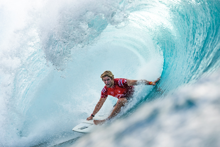 John John Florence: the winner of the 50th Billabong Pipe Masters | Photo: WSL