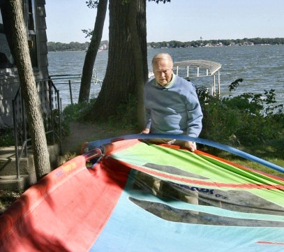 John Davis: a true windsurfer | Photo: Globe Gazette