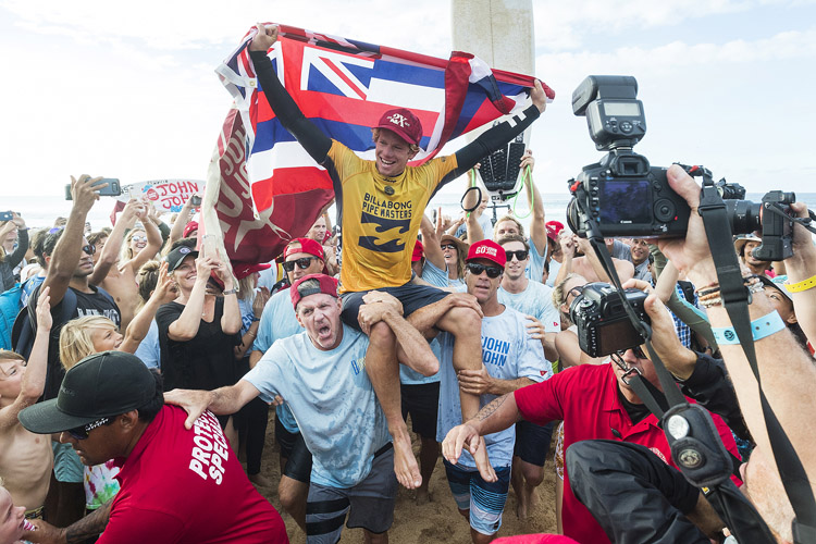 John John Florence: he dreamed of winning the world title at Pipeline | Photo: Cestari/WSL