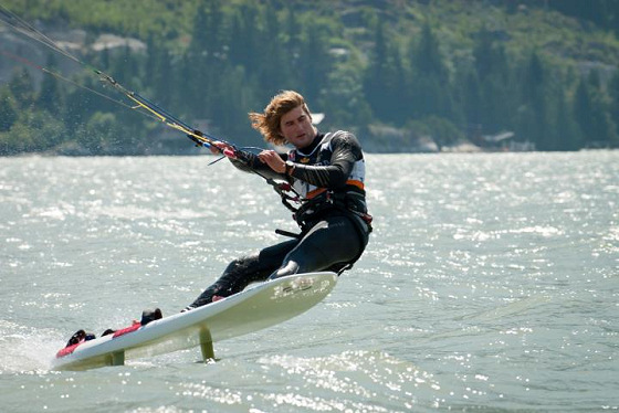 Johnny Heineken: ISAF will get to know his kite skills
