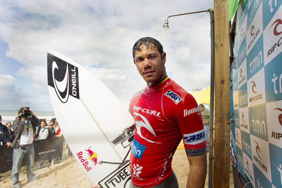 Jordy Smith: he loves showers