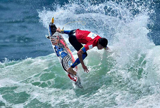 2012 Bolivarian Beach Games: Olympic surfing style