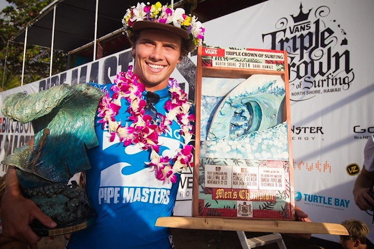 Julian Wilson wins the 2014 Billabong Pipe Masters