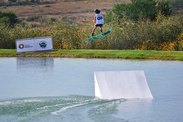 Julia Rick: the winner of the Open Women's Wakeboard division | Photo: IWWF