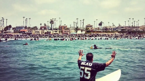 Junior Seau Paddle-Out: linebacker and surfer