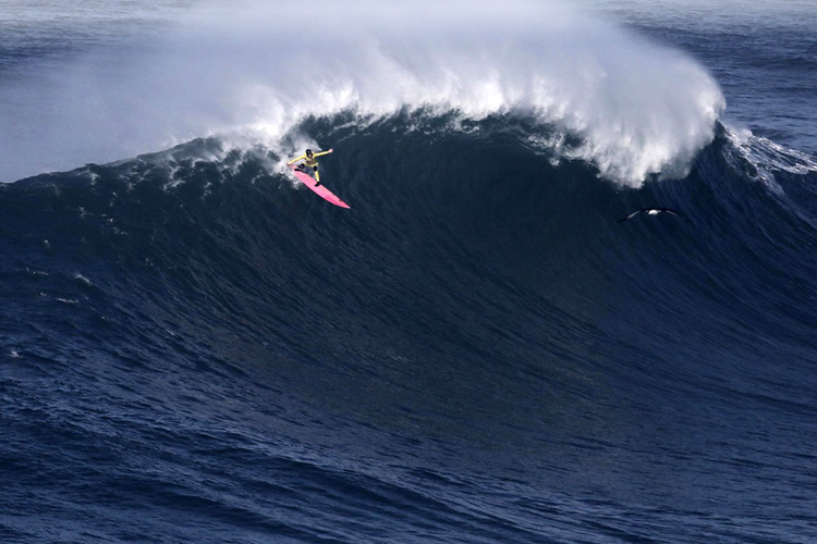 Justine Dupont: she won 'Biggest Wave' and 'Overall Performance' | Photo: Estrelinha/WSL