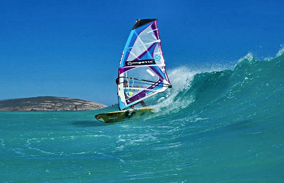 Justyna Sniady: talented wave windsurfer
