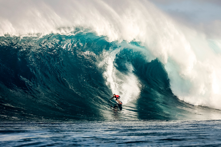 Kai Lenny: another stylish performance in one of his favorite big wave arenas | Photo: WSL
