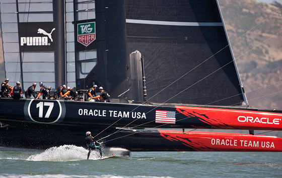 Kai Lenny: side by side with the Oracle Team USA