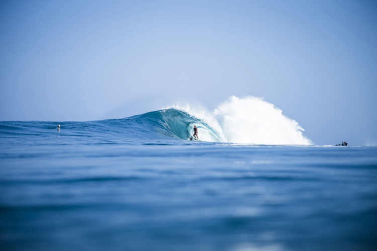 Kaimana Henry: tube time | Photo: Bielmann/Waterman League
